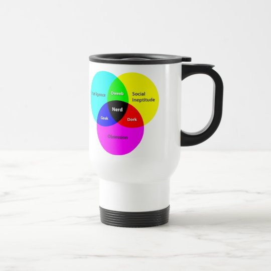 Nerd Venn Diagram Travel Mug Zazzle