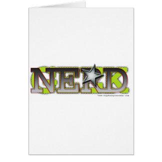 Nerd_wh Greeting Card