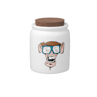 Nerd with Glasses Candy Jars
