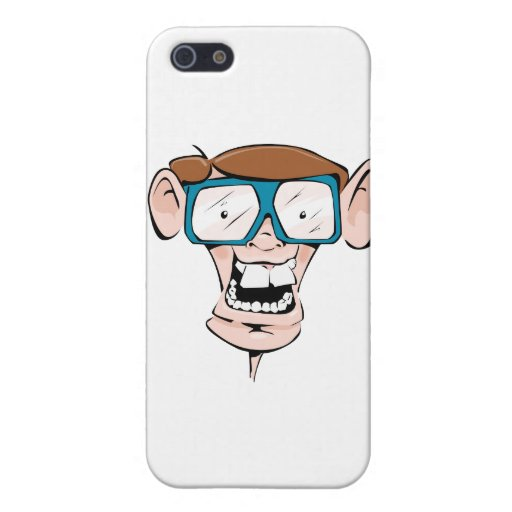 Nerd with Glasses iPhone 5/5S Covers
