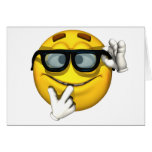 Nerd Yellow Smiley Face Cards