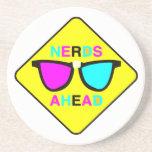 nerd zone nerds ahead CMYK geek Beverage Coaster