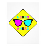 nerd zone nerds ahead CMYK geek Flyer Design