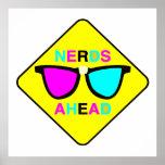 nerd zone nerds ahead CMYK geek Print