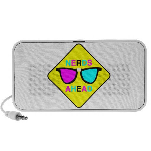 nerd zone nerds ahead CMYK geek Portable Speakers