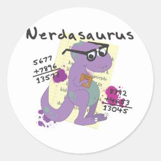 Nerdasaurs Classic Round Sticker