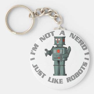 NerdBot Basic Round Button Keychain