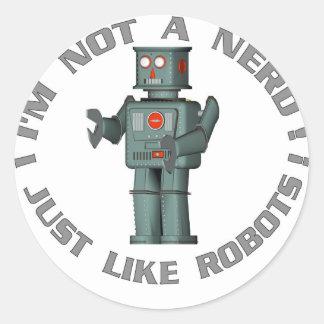NerdBot Classic Round Sticker