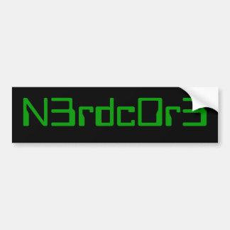 nerdcore bumper 2 bumper sticker