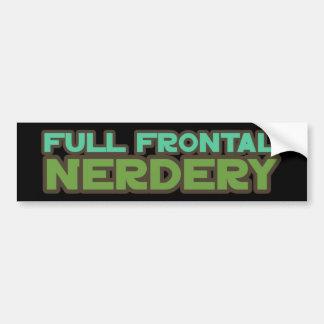Nerdery frontal lleno pegatina para auto