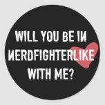 Nerdfighter tiene gusto: Negro Etiqueta Redonda