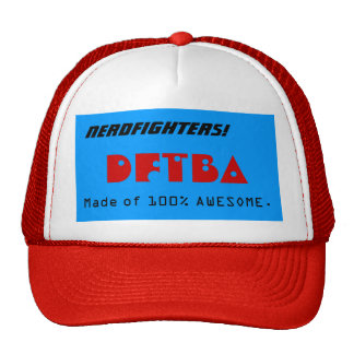 ¡Nerdfighters! , DFTBA, hecho del 100% IMPRESIONAN Gorro De Camionero