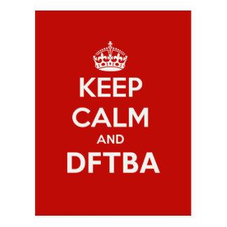 Nerdfighters Keep Calm and DFTBA Postcards
