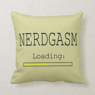 Nerdgasm Loading (with Data Bar) Pillows