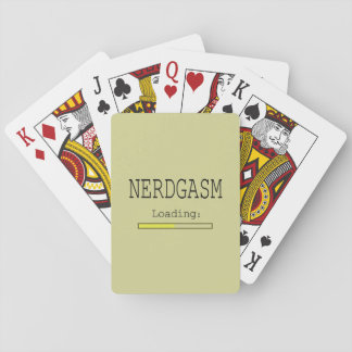 Nerdgasm Loading (with Data Bar) Playing Cards