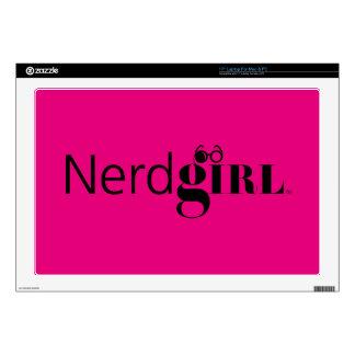 """Nerdgirl 17"""" piel del ordenador portátil 43,2cm portátil calcomanía"""