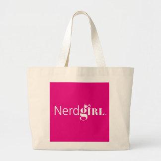 """""""Nerdgirl"""" Carryall Large Tote Bag"""