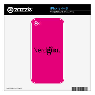 Nerdgirl iPhone 4/4S Skin Decal For The iPhone 4
