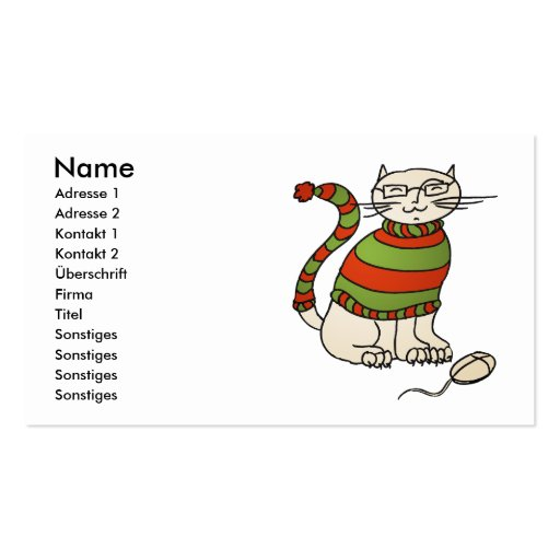 NERDICAT visiting card Double-Sided Standard Business Cards (Pack Of 100)
