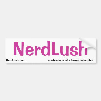 NerdLush- basic bumper sticker Car Bumper Sticker
