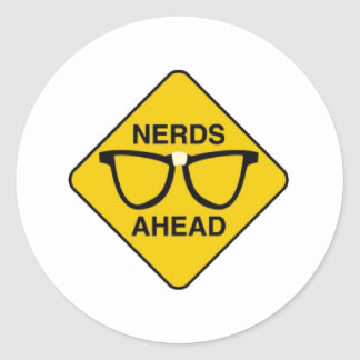 Nerds Ahead Stickers