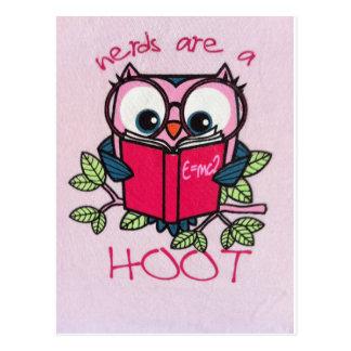 Nerds are a Hoot - Owl - Postcard
