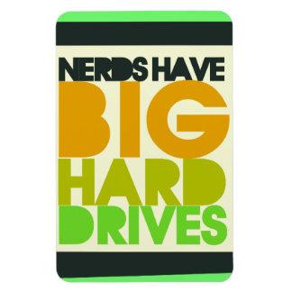 Nerds have big hard drives rectangular photo magnet