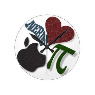 Nerds Heart Apple Pi Analog Geek Wall Clock