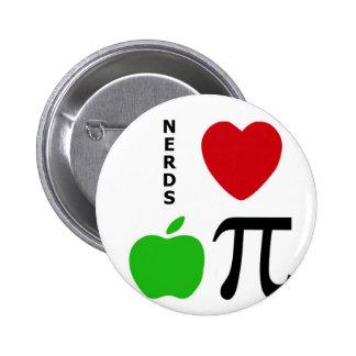 Nerds Love Apple Pie Pinback Buttons