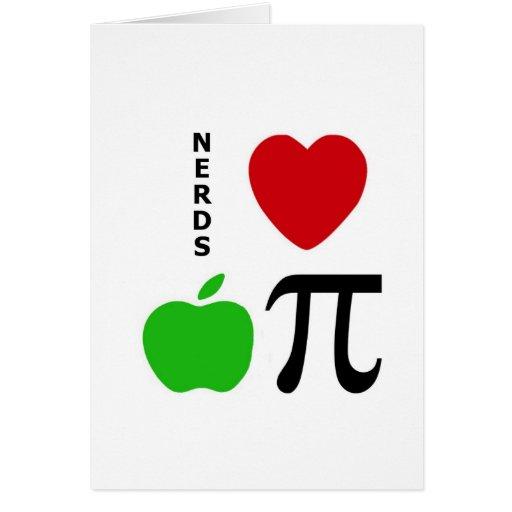 Nerds Love Apple Pie Card