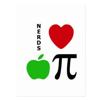 Nerds Love Apple Pie Post Card