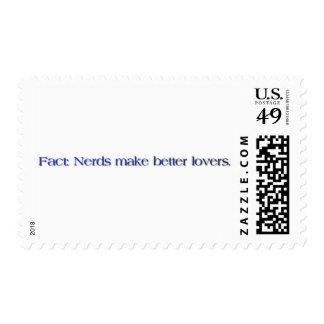 nerds make better lovers stamp