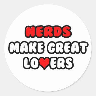 Nerds Make Great Lovers Classic Round Sticker