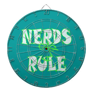 Nerds rule humor funny dartboard with darts