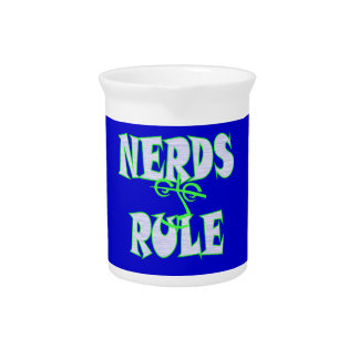 Nerds rule humor funny drink pitcher