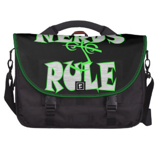 Nerds rule humor funny laptop computer bag