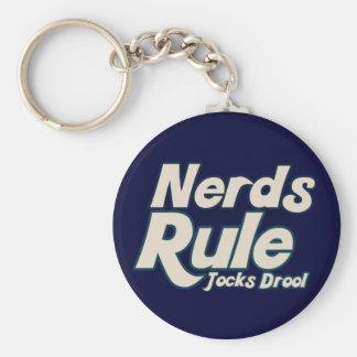 Nerds Rule Jocks Drool Keychain