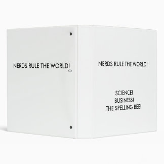 NERDS RULE THE WORLD!, SCIENCE!BUSINESS!THE SPE... 3 RING BINDER