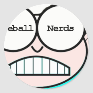 NERDS!  You Love Baseball and are a NERD! Classic Round Sticker