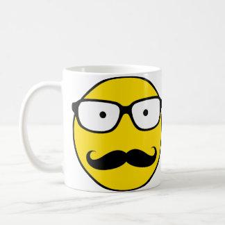 NerdSmiley Mustache Coffee Mug