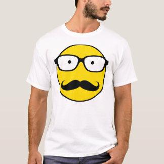 NerdSmiley Mustache T-Shirt