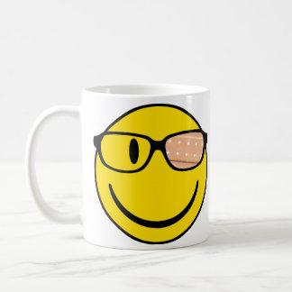 NerdSmiley with plaster Coffee Mugs