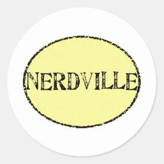 Nerdville Classic Round Sticker