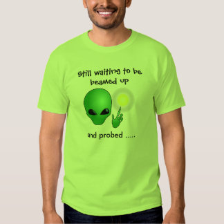 Nerdy Alien Beamed Up and Probed Men's T-Shirt