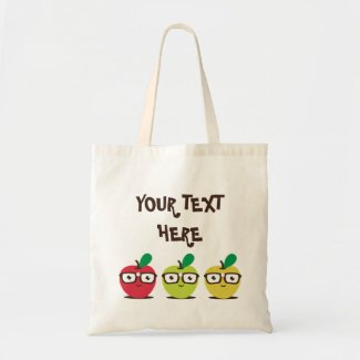 Nerdy Apples Tote Bag bag
