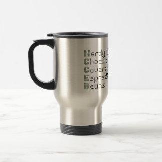 Nerdy as Chocolate Covered Espresso Beans Travel Mug