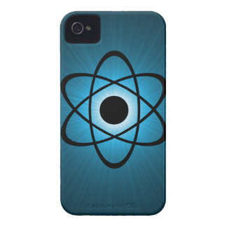Nerdy Atomic BT iPhone 4 Case, Blue iPhone 4 Cover