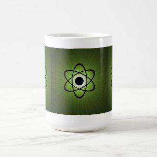 Nerdy Atomic Mug, Green Classic White Coffee Mug
