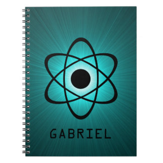 Nerdy Atomic Notebook, Teal Notebook