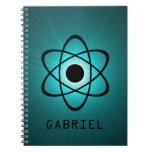 Nerdy Atomic Notebook, Teal Spiral Note Books